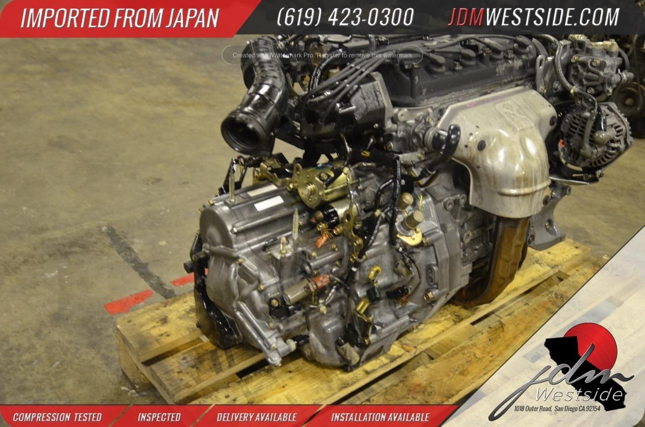 Engine And Transmission >> 1998 1999 2000 2001 2002 Honda Accord F23a 2 3l Complete Engine Transmission Mgpa