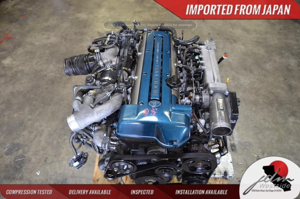TOYOTA 2JZ GTE ENGINE VVTI ARISTO TWIN TURBO JDM GS300 IS300 240SX S13 S14