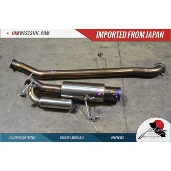 JDM 1989 1993 NISSAN SILVIA 240SX COMPLETE CAT BACK EXHAUST EXAS EXHAUST
